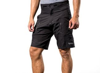 Bpbtti Mens Baggy MTB Mountain Bike Shorts with Removable Biking Bicycle Cycling Padded Liner Short (Black, Waist 38-40' - XL)