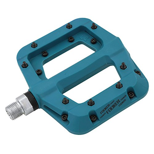 FOOKER MTB Bike Pedal 3 Bearing Nylon Composite 9/16 Mountain Bike Pedals High-Strength Non-Slip Bicycle Pedals Surface Road BMX MTB Fixie Bikes
