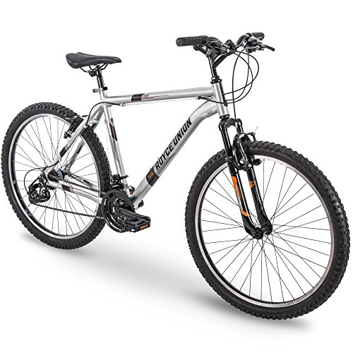 Royce Union Mens' RTT 21-Speed Mountain Bike, Aluminum Frame, Trigger Shift, Silver