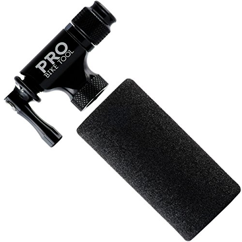 Pro Bike Tool CO2 Inflator - Limited Edition Black - Quick & Easy - Presta and Schrader Valve Compatible - Bicycle Tire Pump For Road and Mountain Bikes - Insulated Sleeve - No CO2 Cartridges Included