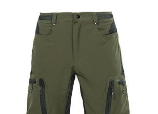 Cuzaekii Men's MTB Bike Cycling Shorts (Green Shorts, CN:XL/US:L)