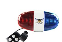 Onedayshop Super Loud Bike Bicycle Police Car 6 LED Light 4 Sounds Trumpet Cycling Horn Bell Siren