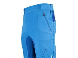 Urban Cycling Apparel Flex MTB Trail Shorts - Flex Soft Shell Mountain Bike Shorts with Zip Pockets and Vents (Medium, Blue, No Liner)