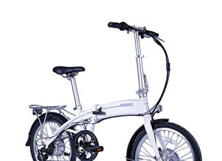 CS-240 Electric Bicycle for Sport, Commuter, Campus. 250W Folding Bike w/Removable 36V Battery, 5 Levels Pedal Assist and Pedal-Free Modes,USB Charging Port, Lightweight 44lbs. Ships Fully Assembled