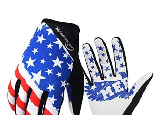 RIGWARL Bike MTB gloves with American flag pattern design for off-road motorcycles - mountain climbing - hiking and other outdoor sports use, male and female common.