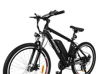 ANCHEER Electric Bike, 26'' Electric Mountain Bike for Adults with Removable 36V 8Ah Lithium Battery