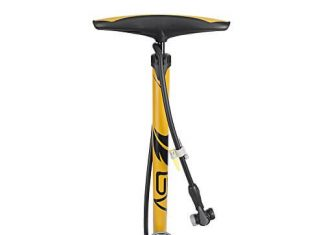BV Bicycle Ergonomic Bike Floor Pump with Gauge & Smart Valve Head, 160 psi