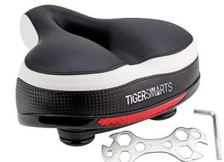 Bike Seat by TigerSmarts Replacement Padded with Shock Absorbing Springs