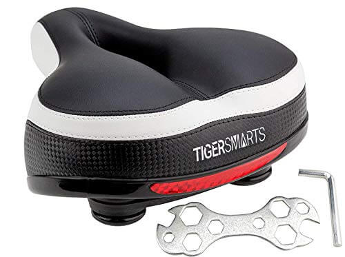 Bike Seat Replacement with Bicycle Tail... TONBUX Most Comfortable Bicycle Seat