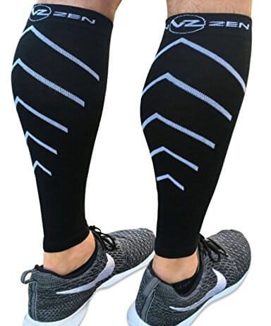 Calf Compression Sleeve – Toeless Compression Socks Women & Men Best Footless Leg Support Sleeves for Calves -Running, Cycling