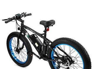 ECOTRIC Fat Tire Electric Bike Beach Snow Bicycle 4.0 inch Fat Tire ebike 500W 36V12AH with Shimano 7 Speeds