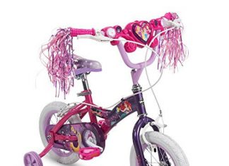 Huffy Disney Princess Girls Bike with Training Wheels, PinkPurple