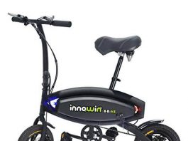 InnoWin KingSports Pedals Power Assist 48 x 26 Foldable Electric Weekend Bike Bicycle