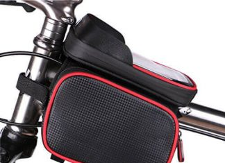 MF-HOME Bike Bag for Cell Phone, Bicycle Front Shelf Large Storage Bag
