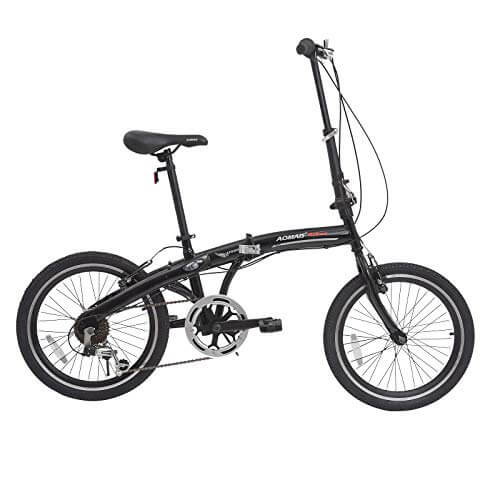 Murtisol Folding Bike 20'' Men's and Women's Bike Fast Speed 6 Speed Commuter Bike Shimano Derailleur Bicycle