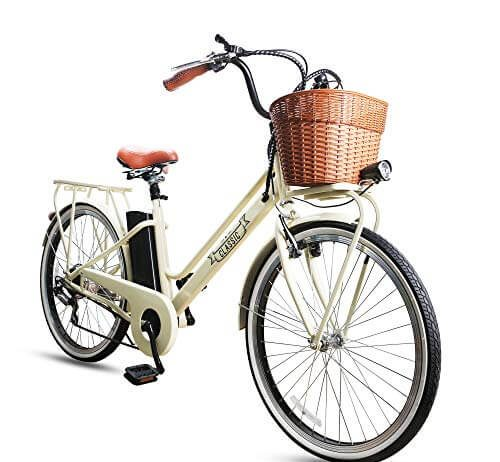 NAKTO Electric Bike Ebikes for Men and Women 26'' Electric Bicycle, Detachable 36V 10Ah Lithium Battery
