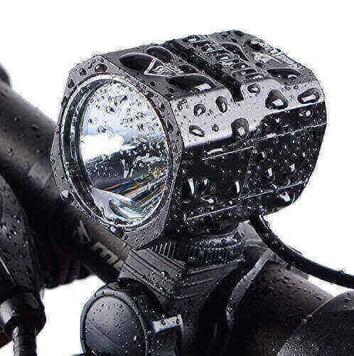 Nestling USB Rechargeable LED Bike Light Set, 1200 Lumen Bicycle Headlight Cree XM-L2 LED 4400mAh Battery