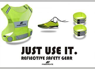 No.1 Reflective Vest Running Gear YOUR BEST CHOICE TO STAY VISIBLE UltraLight & Comfy Motorcycle Reflective Vest Adjustable Bands & Bag