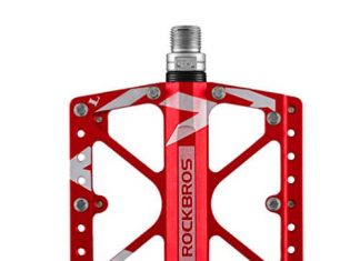 RockBros Bike Pedals Platform Mountain Bicycle Road Cycling Pedals Aluminum Alloy 916 Red
