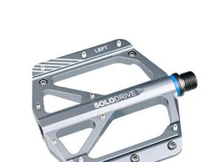 SOLODRIVE Mountain Bike Flat Pedals, Low-profile Aluminium Alloy Bicycle Pedals (Grey)