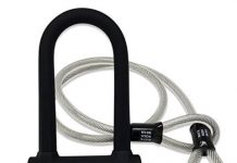 White Rock Gear Bike U Lock and Cable - Heavy Duty 16mm Bicycle Lock with 45 Steel Flex Cable and 3 Keys + Mounting Bracket