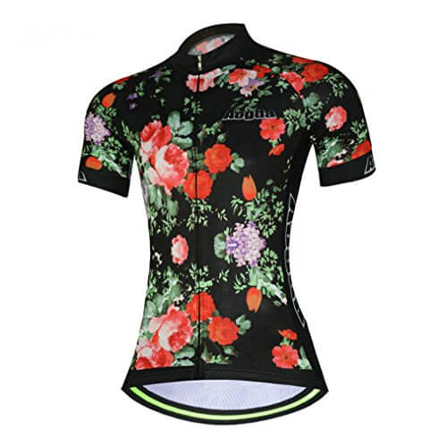 Womens Cycling Jersey Aogda Short Sleeve 3d Silicon Padded Girls Bib Shorts Bicycle Clothing