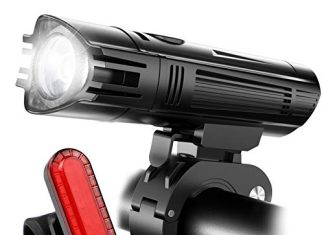 Ascher Ultra Bright Rechargeable Bike Light Set, Powerful Lumens Bicycle Headlight Free Tail Light, LED Front and Back Rear Lights Easy to Install for Kids Men Women Road Cycling Safety Flashlight