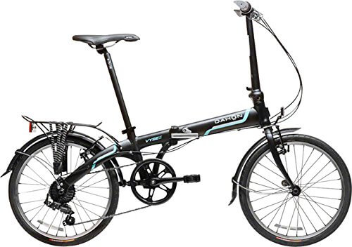 Dahon Vybe D7 Tour Obsidian with Fenders and Rear Rack Folding Bicycle