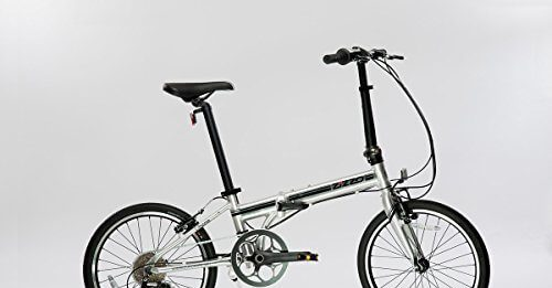 EuroMini-ZiZZO 23lb Lightweight Aluminum Alloy 20 8-Speed Folding Bicycle with Quick Release Wheels