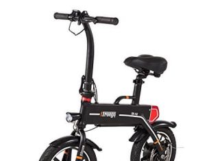 Freego Mini Folding Electric Bike for Adult, 14-inch Tire, Lightweight, Rechargeable