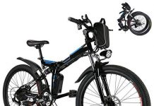 Kaluo Folding Electric Mountain Bike, 26 Inch Wheel, Lithium-Ion Battery, Dual-Suspension and Shimano Gear