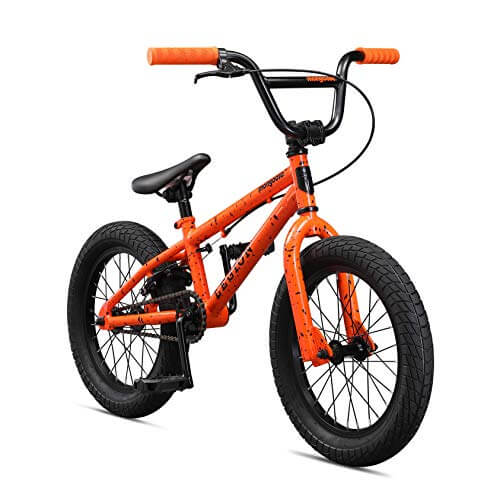 Mongoose Legion L16 16 Boy's Freestyle Bike, Orange