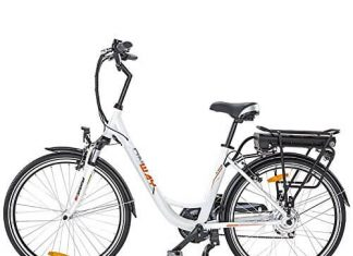 Onway 26 Inch 6 Speed Woman City Electric Bicycle, 36V 250W Aluminium Alloy E Bike with Pedal Assist