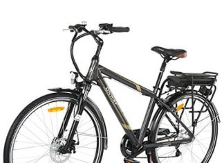 Onway 6 Speed 700C Man City Electric Bicycle, 6061 Aluminium Alloy Frame, with Removable Lithium Battery