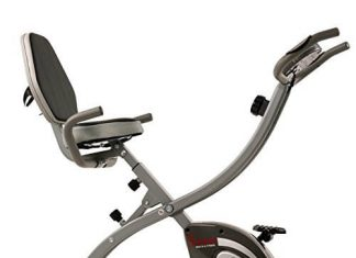 Sunny Health & Fitness Folding Exercise Bike with Magnetic Semi Recumbent Upright High Weight