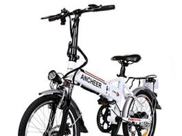 ANCHEER Folding Electric Bike with 36V 8AH Removable Lithium-Ion Battery Lightweight- 250W Motor