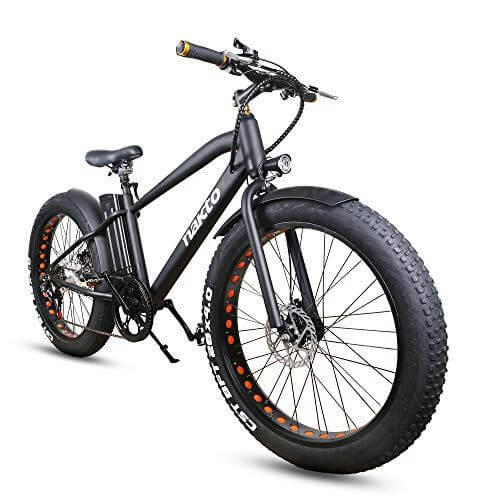 NAKTO Fat Tire Electric Bicycle 500W350W High Speed Brushless Motor