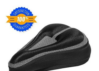Padded Bike Seat Cushion Cover Comfortable, Durable Gel Bicycle Pillow Pad