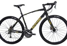 Tommaso Sterrata Shimano Claris R2000 Gravel Adventure Bike with Disc Brakes, Extra Wide Tires, and Carbon Fork Perfect for Road Or Dirt Trail Touring, Matte Black - Small