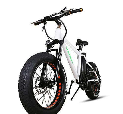 "NAKTO 20"" Fat Tire Electric Bicycle 300W High Speed Brushless Motor and Detachable Waterproof Lithium Battery Adult Electric Bicycle Shimano 6-Speed-Gear Snow Beach Electric Pedal Assist Cruiser"