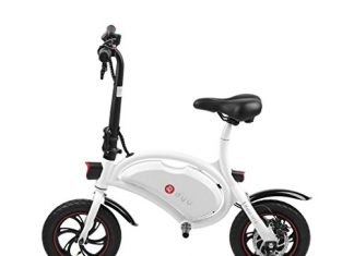 Blackpoolfa Folding 250W E-Bike Built-in 36V 6AH Lithium-Ion Battery and 12 inch Wheels | Lightweight and Aluminum Adult Electric Bicycle | Reach 18.6 mph, 264 lbs Max Load