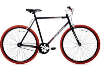 Thruster 700C Urban Fixie Bike Black / Red
