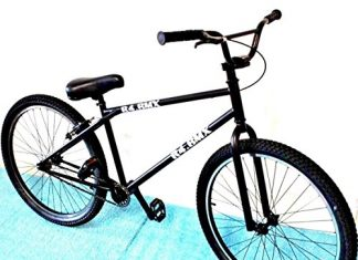 """R4 2019 26"""" Complete BMX Bike Cruiser Bicycle Stunt Pegs Included (Matte Black)"""