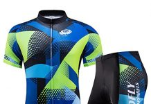voofly Men's Cycling Jersey Set Men Short Sleeve Compression Bike Shorts Gel Padded Biking Clothing