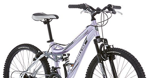 Mongoose R3577 Girl's Maxim Full Suspension Bicycle (24-Inch)