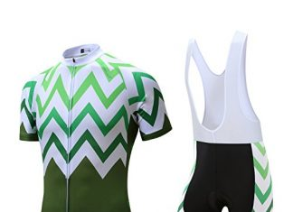 Coconut Pro Team Men's Cycling Jersey Bib Shorts With 3D Padded (XXX-Large, White/Green)