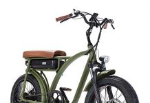 Electric Bike 48V 500W Motor, Fat tire Electric Bicycle, Front Suspension, Pedal Assist and Throttle e-Bike, Long Saddle