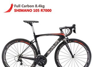 SAVADECK Herd 6.0 T800 Carbon Fiber 700C Road Bike Shimano 105 5800 Groupset 22 Speed Carbon Wheelset Seatpost Fork Ultra-Light 18.3 lbs Bicycle Black Grey 52cm