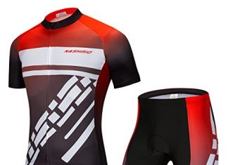 NASHRIO Men's Cycling Jersey Set Road Biking Short Sleeves Kit with 4D Padded Gel Clothing Full Zipper Closure Bicycle Quick-Dry Breathable Sports Gear Assorted Color Patterns - Ideal Gift Idea