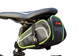 Selbst Waterproof Sleek and Stylish Bicycle Saddle Bag by Cycling Seat Pouch Strap on Bicycle Tail Rear Storage for Cellphone Smartphone
